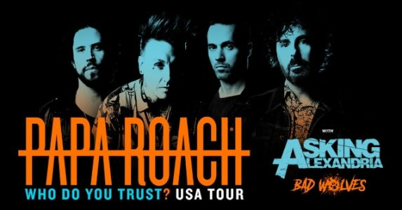 PAPA ROACH Announces Summer 2019 U.S. Tour With ASKING ALEXANDRIA, BAD WOLVES