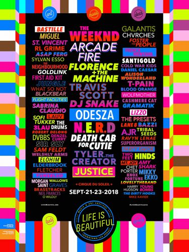 Life Is Beautiful 2018 Lineup