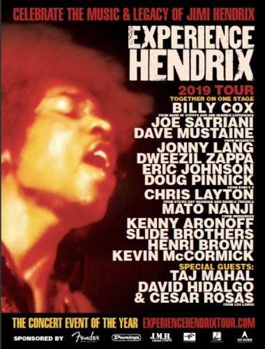 DAVE MUSTAINE, JOE SATRIANI To Pay Tribute To JIMI HENDRIX As Part Of 2019 'Experience Hendrix' Tour