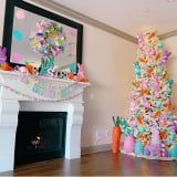 Easter Christmas Trees Are a Thing, and They're Here to Bring You Lots of Pastel-Colored Joy