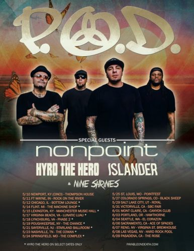 P.O.D. Announces Spring 2019 Tour Dates With NONPOINT