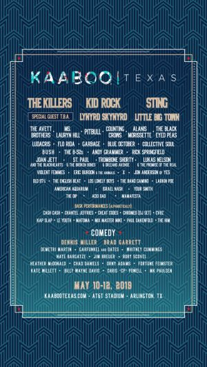 KAABOO Texas 2019 lineup: The Killers, Lauryn Hill, The Avett Brothers among highlights