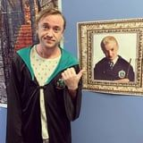 """Tom Felton Posed Next to an Old Draco Malfoy Poster, Only to Realize That """"Aging's a B*tch"""""""