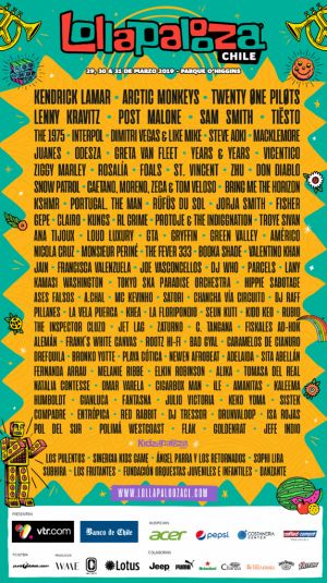 Lollapalooza reveals 2019 lineups for Brazil, Argentina, and Chile festivals