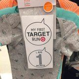 "Target Moms Rejoice: Your Baby Can Officially Get in on the Fun With These ""My First Target Run"" Stickers"