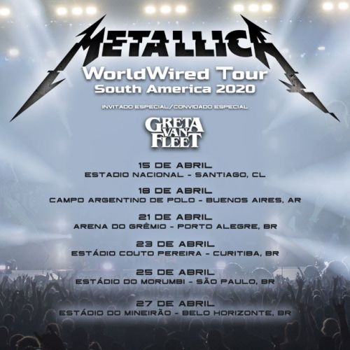 METALLICA Sues Insurer Over Losses From Postponed South American Tour During COVID-19 Pandemic