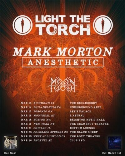 LAMB OF GOD's MARK MORTON Announces Solo Tour With LIGHT THE TORCH And MOON TOOTH
