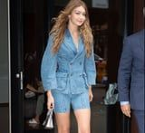 Gigi Hadid's Denim Suit Is Sexy, but Her Metallic Shoes Are What's Memorable