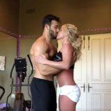 Allow This Video of Britney Spears Dancing With Her Shirtless Boyfriend to Steam Up Your Screen