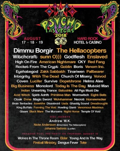 DIMMU BORGIR And THE HELLACOPTERS To Headline PSYCHO LAS VEGAS Festival
