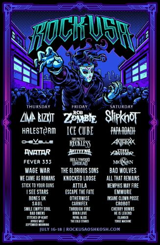 SLIPKNOT, ROB ZOMBIE And LIMP BIZKIT To Headline ROCK USA Festival