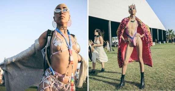 Banana Hammocks, Body Glitter, and All the Coolest Outfits We Saw at Coachella