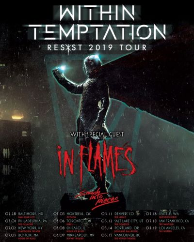 WITHIN TEMPTATION Announces North American Tour With IN FLAMES, SMASH INTO PIECES; BLABBERMOUTH.NET Presale