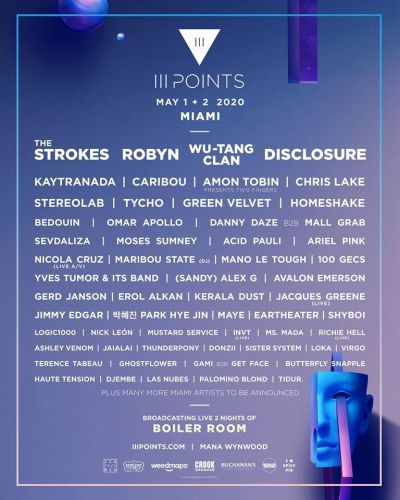 Iii Points reveals 2020 lineup: The Strokes, Robyn, Wu-Tang to play Miami festival