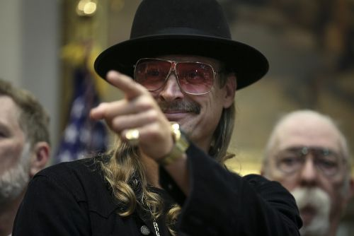 Kid Rock Stirs More Controversy With Giant Neon Butt Guitar