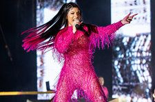 Cardi B Rocks Glittery Fringed Jumpsuit at Music Midtown Festival: See Pics