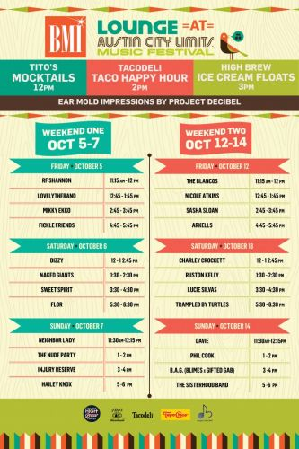 Events: BMI Stage ACL Fest: Austin, TX