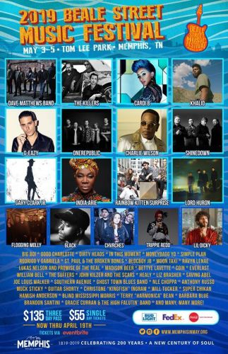 Beale Street announces 2019 lineup, enter to win four three-day passes