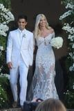 Devon Windsor's Wedding Dress Is All Glamour, While Her Bridal Bathing Suit Is Simply Sexy