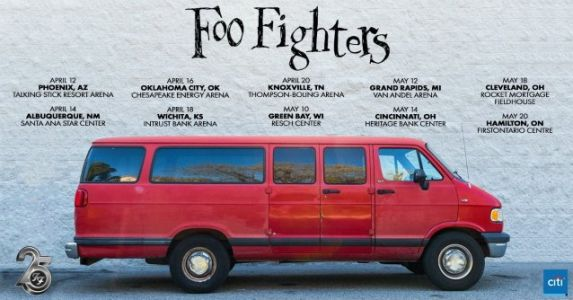 FOO FIGHTERS Announce Rescheduled Dates For Rest Of 'Van Tour' 2020