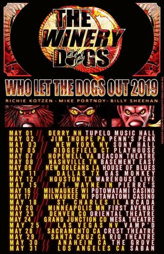 THE WINERY DOGS Announce May 2019 U.S. Tour