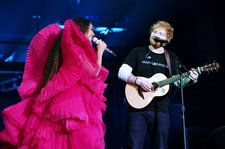 Beyoncé & Ed Sheeran Wear Contrasting Outfits at Global Citizens: See the Reactions