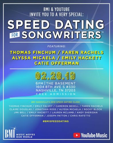 Events: BMI & YouTube Music Speed Dating for Songwriters: Nashville