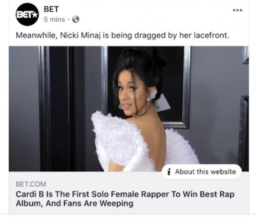 Nicki Minaj cancels BET concert following network's pro-Cardi B tweet