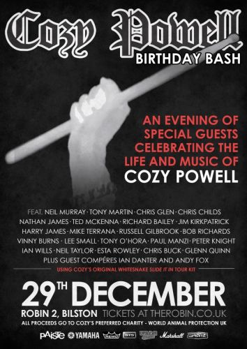 Former Members Of WHITESNAKE, BLACK SABBATH And MSG To Perform At COZY POWELL Tribute Concert
