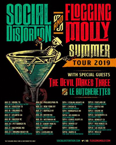 Social Distortion and Flogging Molly announce co-headlining 2019 North American tour