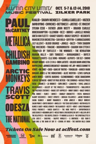 METALLICA, DEFTONES To Perform At This Year's 'Austin City Limits Music Festival'