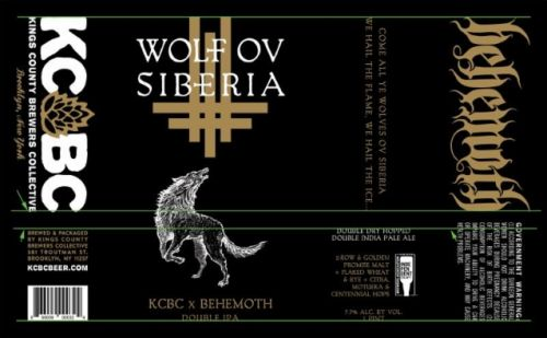 BEHEMOTH And KINGS COUNTY BREWERS COLLECTIVE Join Forces For 'Wolf Ov Siberia' Double IPA