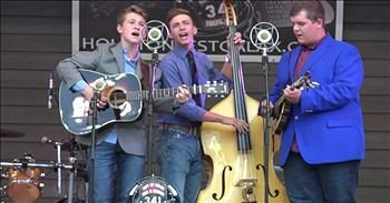 Young Man Performs Bluegrass Rendition Of 'Go Rest High On That Mountain'