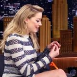 Exclusive: Things Get Spicy Between Amber Heard and Jimmy Fallon in Peppery Food Challenge