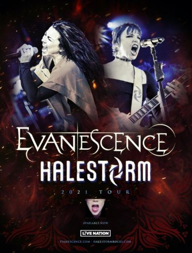 EVANESCENCE And HALESTORM Announce Fall 2021 U.S. Tour