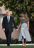 You're Not Seeing Things: Donald Trump Really Did Match His Tie to Melania's Dress
