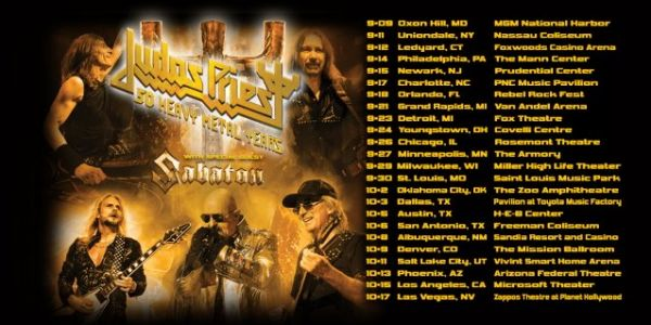 JUDAS PRIEST Announces '50 Heavy Metal Years Tour' 2020
