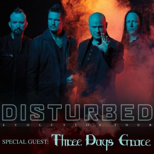 DISTURBED Announces 'Evolution' North American Tour With THREE DAYS GRACE