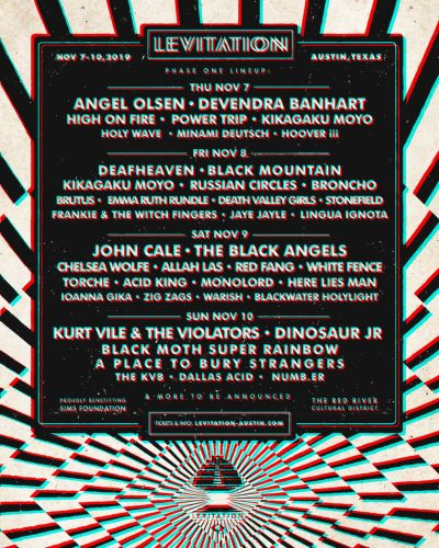 LEVITATION reveals 2019 lineup: Angel Olsen, John Cale, Deafheaven, Dinosaur Jr. among highlights