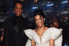 JAY-Z Rubs Cardi B's Baby Bump During Beyonce's Performance at Coachella