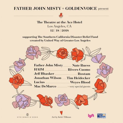 Father John Misty hosting California wildfire benefit concert with HAIM, Rivers Cuomo, Rostam
