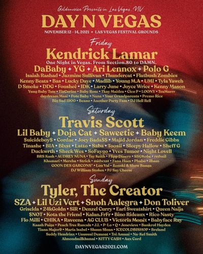 Kendrick Lamar Playing His Only 2021 Show At Las Vegas Festival