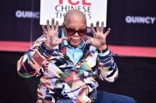 Quincy Jones Leaves Hand & Footprints at Hollywood's TCL Chinese Theatre, Supported by Snoop Dogg, Usher & Daughter Rashida