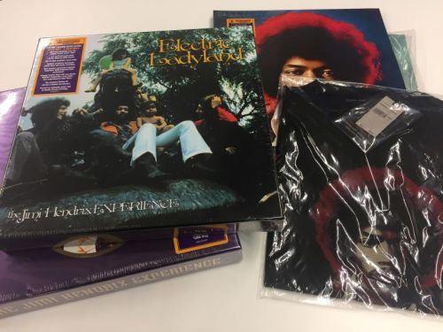 Win Jimi Hendrix vinyl prize pack featuring Electric Ladyland, studio albums, and box sets