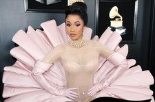 Cardi B Thanks Thierry Mugler 'From the Bottom of My Crusty Heart' for Vintage Grammys Gown