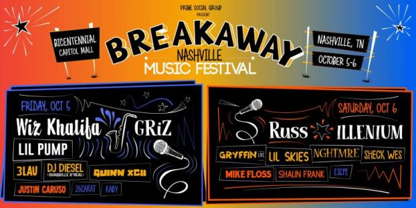 Win Tickets to Breakaway Music Festival in Nashville or Charlotte