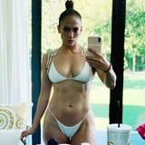 "Jennifer Lopez Feels ""Relaxed and Recharged"" in This White Bikini, and It's What She Deserves"