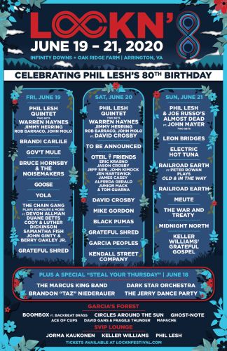Lockn' Festival celebrates Phil Lesh's 80th birthday with Warren Haynes, David Crosby, John Mayer, and more