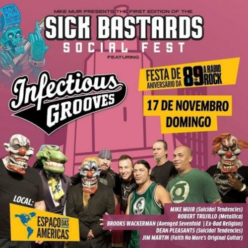 METALLICA Bassist ROBERT TRUJILLO, Ex-FAITH NO MORE Guitarist JIM MARTIN To Perform With INFECTIOUS GROOVES This Weekend