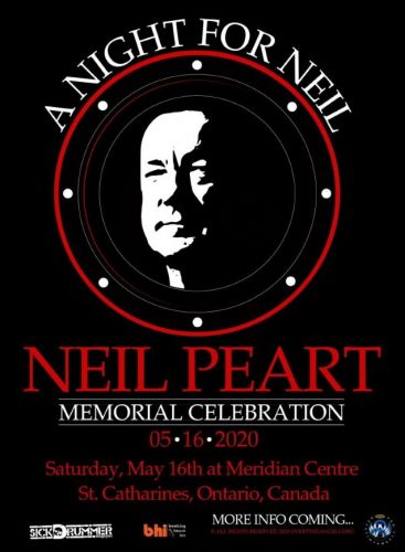 NEIL PEART Memorial Celebration To Be Held In His Former Hometown